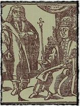 Hynce Ptáček z Pirkštejna (dobový dřevoryt)