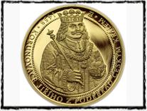 Jiří z Poděbrad na pamětní medaili (copyright zlate-mince.cz)