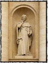 Jean Gerson - socha na pařížské Sorbonně (zdroj: Wikipedie)