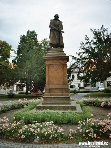 Čáslav – socha Jana Žižky