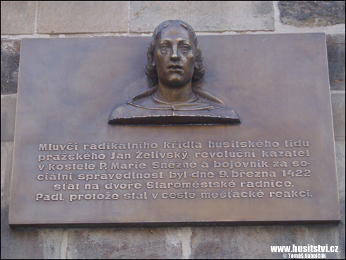 Praha – pamětní deska Jana Želivského