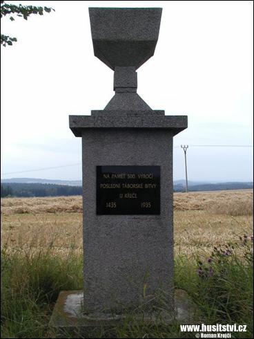 Křeč – památník poslední táborské bitvy u Křeče roku 1435