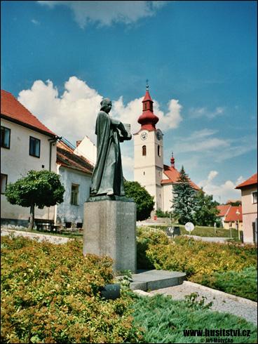 Husinec – památník Jana Husa
