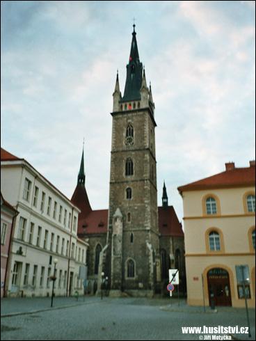 Čáslav – kostel sv. Petra a Pavla, místo nalezení Žižkových ostatků
