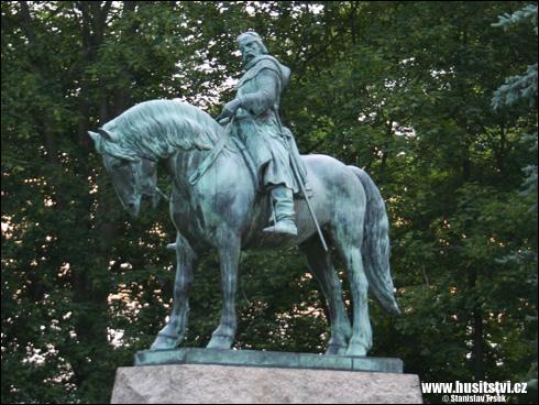Přibyslav – jezdecká socha Jana Žižky