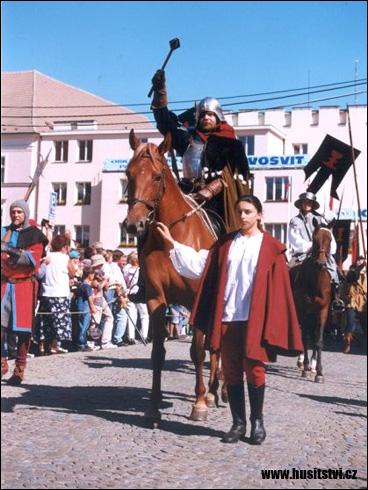 Táborské slavnosti, průvod Jana Žižky (Tábor, 1998)
