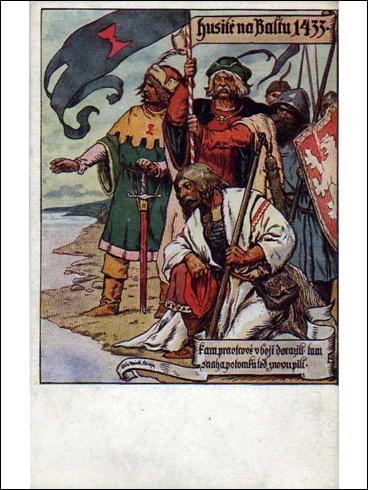Pohlednice – Husité na Baltu 1433 (?)