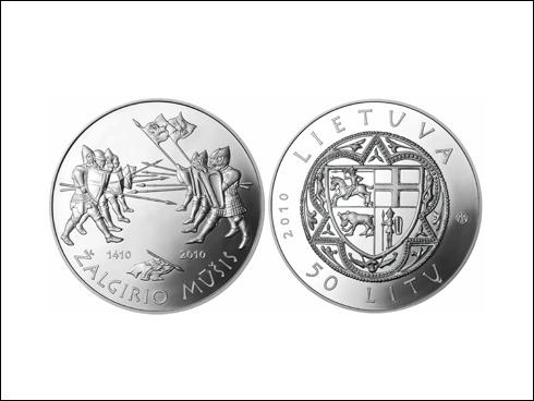 50 litas – 600. výročí bitvy u Grunwaldu 1410-2010 (2010)