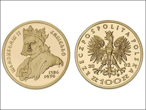 100 zł – Vladislav II. Jagelonský 1386-1434 (2002)