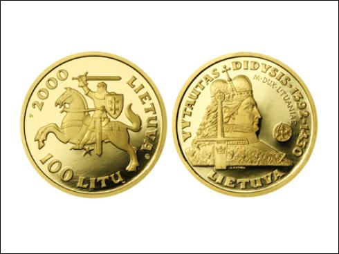 100 litas - Vitold, velkovévoda litevský (2000)
