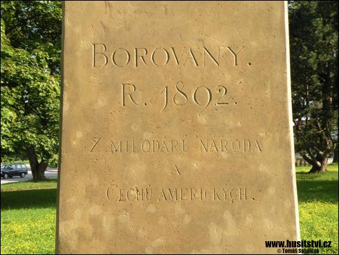 Borovany – památník Jana Žižky