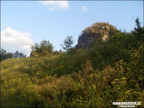 Karpien (PL) – zřícenina, kdysi hrad Hynka Krušiny z Lichtemburka
