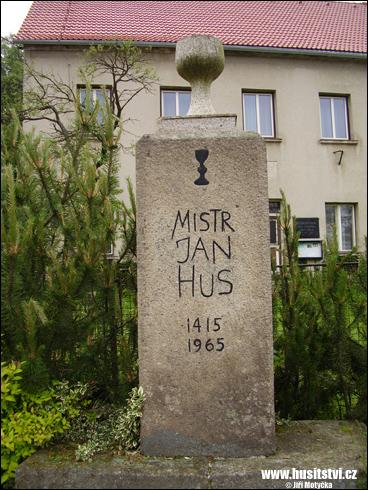 Horní Dubenky – památník Jana Husa
