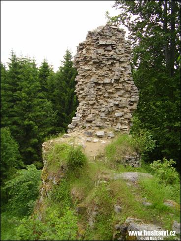 Janštejn – hrad zaniklý v husitských válkách