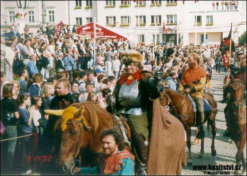 Táborské slavnosti, průvod Jana Žižky (Tábor, 2002)