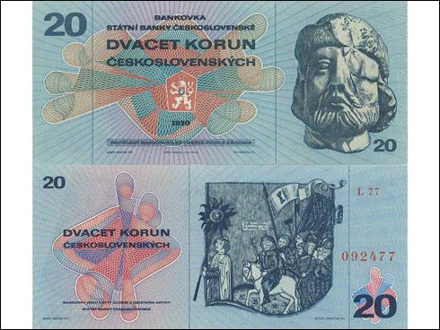 20 Kčs – Jan Žižka z Trocnova (1970)