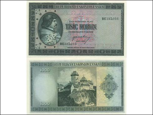 1000 Kčs – Jiří z Poděbrad (1945)