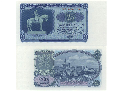 25 Kčs – Jan Žižka (1953)