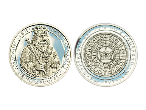 Medailon – 550. let od korunovace Jiřího z Poděbrad českým králem (2008)