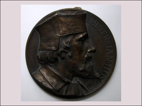 Plaketa mistr Jan Hus, Národopisná výstava Československá v Praze 1895