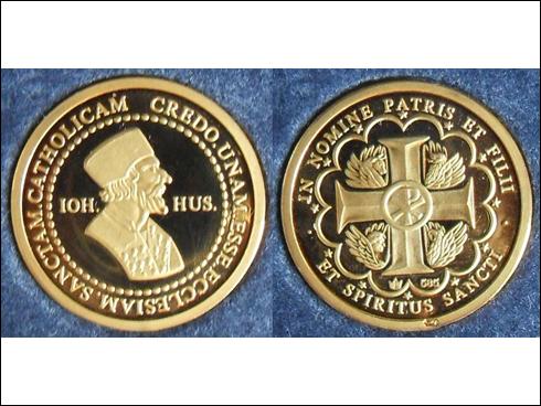 Medailon – Jan Hus, Zlatá koruna (?)