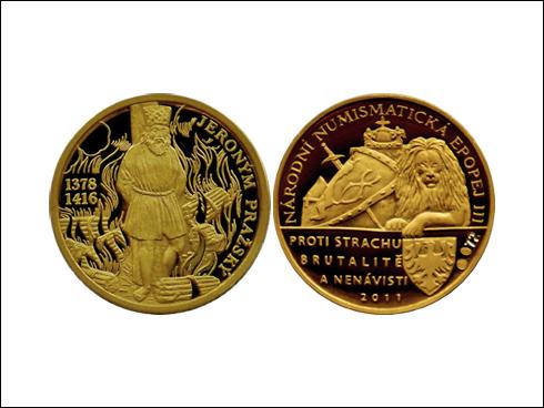 Medailon – Jan Jeroným Pražský, Národní numismatická epopej III. (2011)