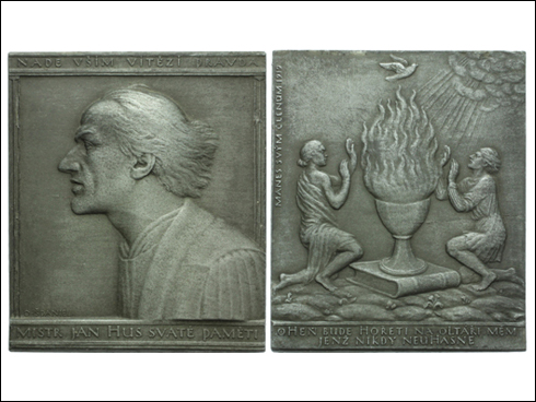 Plaketa Mánes svým členům - Mistr Jan Hus (1919)
