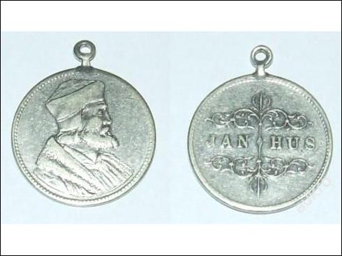 Medaile s očkem – Jan Hus (?)