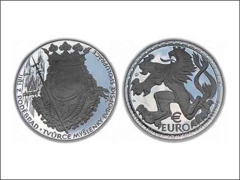 Medaile – Jiří z Poděbrad, zavedení EURO měny (2003)