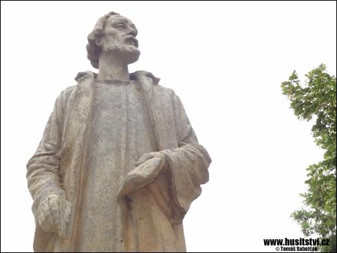 Jinín - památník Jana Husa