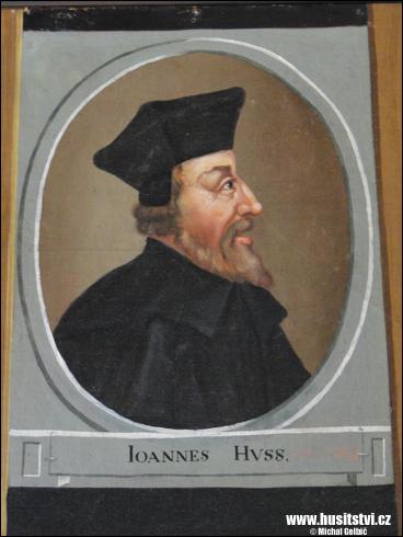 Jan Hus – obraz v klášteře Zlatá Koruna