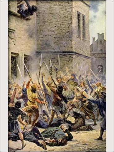 Liebscher Adolf – Svržení konšelů z Novoměstské radnice 30. července 1419