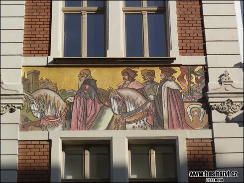Plzeň - dům v Nerudově ulici [foto: Dáša Nová, © www.husitstvi.cz]