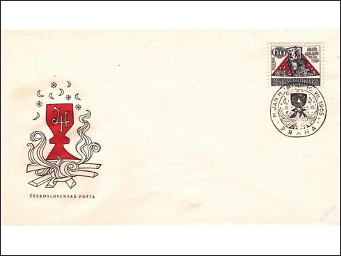 FDC – Kulturní výročí a události I., Mistr Jan Hus (1965)