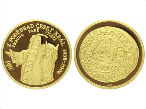 Medaile - 550 let od zvolení Jiřího z Poděbrad českým králem (2008)