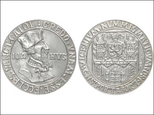 Medaile – Jan Hus, ČNS Tábor (1980)