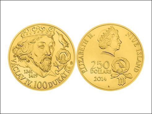 250 dollars – 100 dukát Václava IV. (2014)