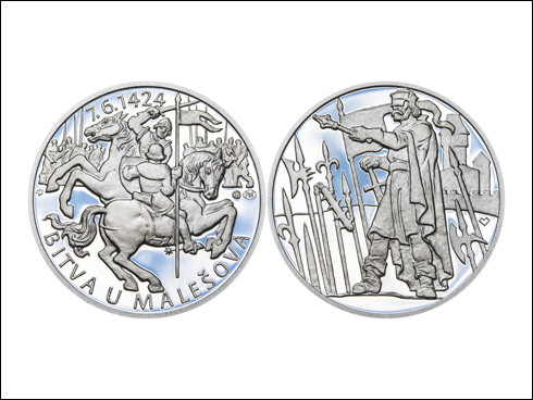 Medailon – Bitva u Malešova – 590. výročí (2014)