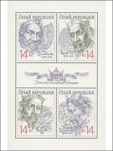 Tiskový list – Lucemburská dynastie (1996)