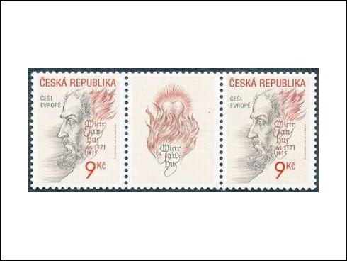 9 Kč – Češi Evropě, mistr Jan Hus 1371-1415 (2002)
