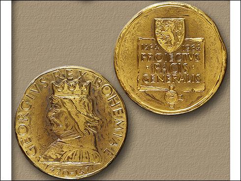 Medaile – 500. výročí mírového projektu Jiřího z Poděbrad 1464-1964 (1964)