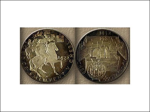Medaile – 550. výročí tzv. Chebského soudce (1982)