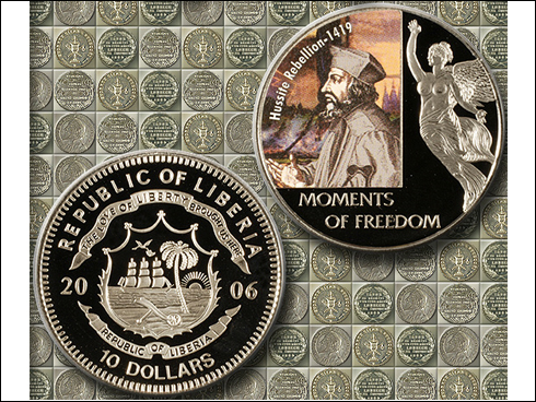 10 dollars – Moments of freedome, Hussite Rebellion 1419, Jan Hus (2006)
