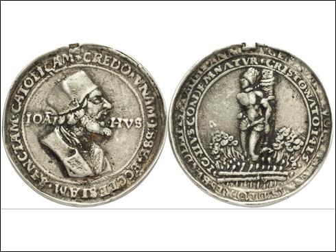 Krušnohorská medaile Jan Hus 16./17. stol.