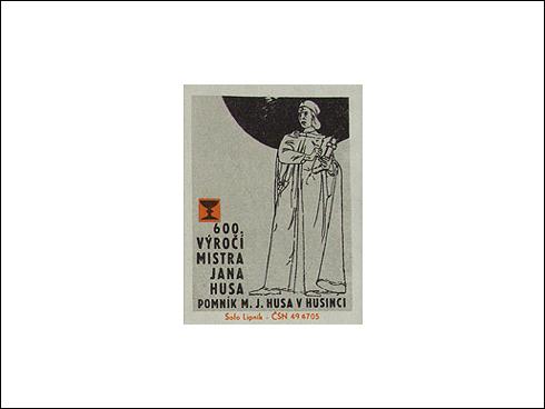 Zápalky - 600. výročí narození mistra Jana Husa (1971)