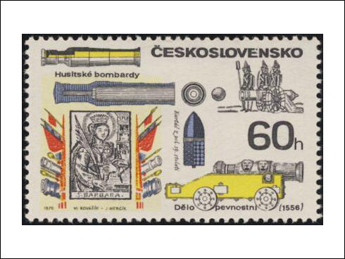 60h – Historické palné zbraně, husitské bombardy (1970)