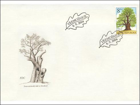 FDC – Chráněné stromy, Žižkův dub v Podhradí (2004)