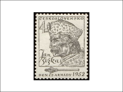 4,00 Kčs – Den československé armády, Jan Žižka z Trocnova (1952)