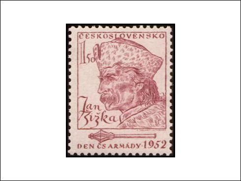 1,50 Kčs – Den československé armády, Jan Žižka z Trocnova (1952)