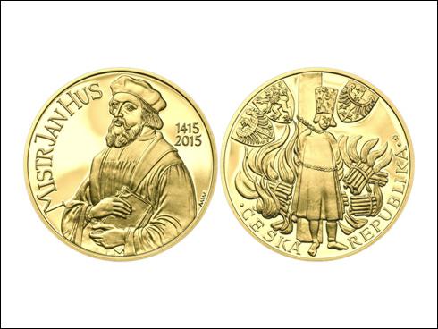 Sada návrhů mince 10.000 Kč Jan Hus (2015)